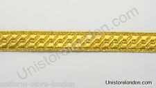 Braid Gold mylar BNS 13mm Rank marking Lace Trim R230