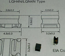 10 Stück Murata LQH4N SMD Inductor 1mH (1000µH) size 1812 Wire Wound Chip Coil