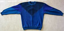 MEN'S VINTAGE WOOL SKI SWEATER YVES SAINT LAURENT, RIVE GAUCHE. FUTURISTIC 1983