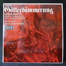 WAGNER Gotterdammerung SOLTI FRICK DECCA INSERT UK Original LP SXL.6220 EX
