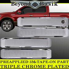 FORD F150 Crew cab 2015-2017 Chrome Door Handle COVERS no Pass no Smart Keyhole