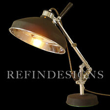 MEDICAL INDUSTRIAL MACHINE AGE NICKEL CHROME PORTABLE OPERATION SURGERY LAMP 30s