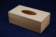 Plain Wooden Rectangular Tissue Box Perfect For Decoupage and Other Crafts