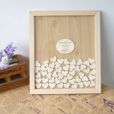 Rustic Wedding Guest Book Drop Box Heart Wooden Guestbook Alternative 150hearts