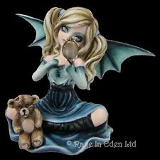 *CORA* Bat Wings Goth Girl Fairy Art Resin Figurine By Nemesis Now (19cm)