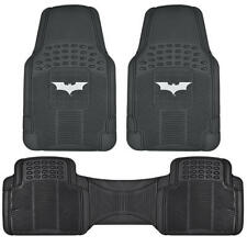 Dark Knight Batman Car Floor Mat 3 Piece Set W/ Rear Liner Trimmable All Weather