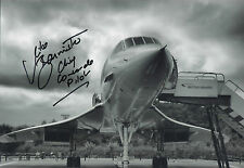 MIKE BANNISTER Signed 12x8 Photo CHIEF CONCORDE PILOT COA