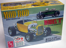 "AMT 1/25 ""Mod Rod"" 1929 Ford Model A Roadster 1002 PLASTIC MODEL KIT builds 2"