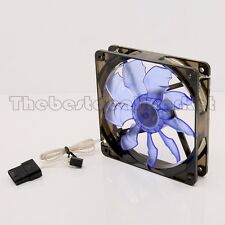120mm Acrylic Cooling CPU Fan Blue LED Bat Leaf For Computer/PC Water Cooling