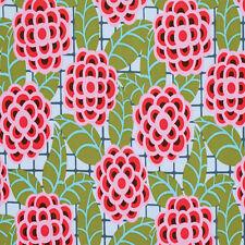 """Amy Butler Cameo Tea Rose Laminate Fabric in Silver OCAB019 54/56"""" 100% Cotton"""