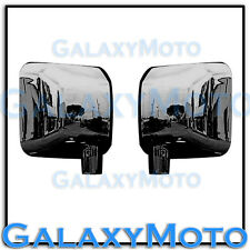 07-15 JEEP JK WRANGLER Triple Black Chrome plated Full ABS Mirror Cover a pair