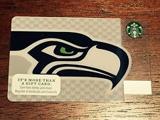 Used Starbucks SEATTLE SEAHAWKS Original GIFT CARD 2013 Limited Edition