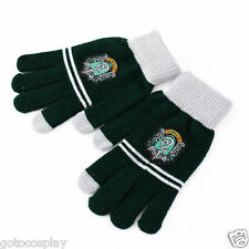 Harry Potter Slytherin Gloves With Logo Warm Mittens Touch Glove Xmas Gift