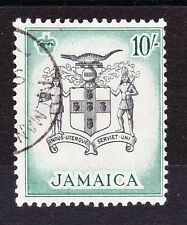 JAMAICA 1956 10/- BLACK & BLUE-GREEN SG 173 FINE USED.