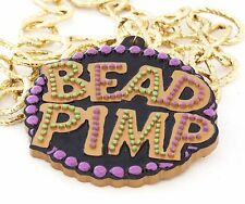 Bead Pimp Mardi Gras Bead Necklace New Orleans Party Bling Flash Pimpin Easy A10