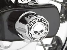 HARLEY Willie G Skull Rear Axle Nut Cover FLST FXST Softail Dyna 08 UP fxdb fxd