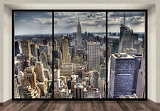 "WALLPAPER MURAL PHOTO New York Skyline WALL DECOR PAPER GIANT POSTER ""PENTHOUSE"""