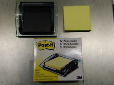 NEW IN BOX 3M Post it note holder clear with 50 notes free refill FSHIP