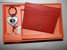 Coach-New In Coach Box-Credit Card Holder AND Key Fob In Gift Box-0507