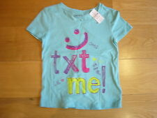 *NEW BNWT* GAP Kids girls turquoise green summer top t-shirt - age 6 - 7 years