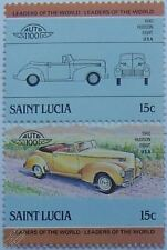1940 HUDSON EIGHT 8 Car Stamps (Leaders of the World / Auto 100)