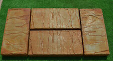 6 PIECE DESIGN CONCRETE MOLDS for PAVING  BRICK SLAB patio garden path MOULD