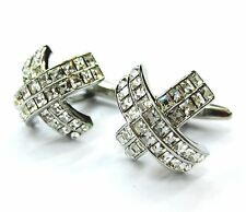 White Swarovski Crystals Cross Cufflinks Crystals Cuff Links 100 For 7 items
