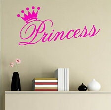 Various Color Beautiful Princess Crown Wall Sticker Decal for Girl Bedroom Decor