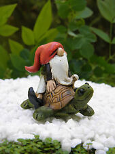 Miniature Dollhouse FAIRY GARDEN ~ Gnome on Turtle ~ NEW