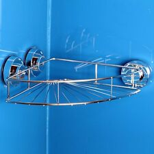 New Bathroom Suction Cup Shelf Shower Corner Storage Caddy Holder Rack Organizer
