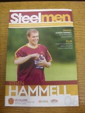 05/10/2008 Motherwell v Falkirk  (Faint Crease).  Thanks for taking the time to