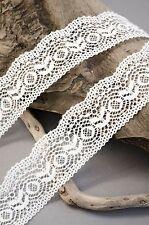 Delicado 35mm Blanco Elástico Vintage estiramiento del cordón nupcial Craft Lencería Coser
