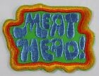 VINTAGE MEAT HEAD! EMBROIDERED PATCH ALL IN THE FAMILY HALLMARK UNUSED!