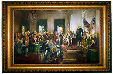 Christy Signing of the Constitution of the United States - Gold Framed 25x36