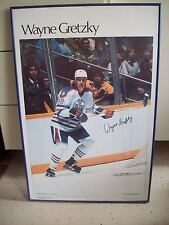 WAYNE GRETZKY ROOKIE POSTER SPORTS ILLUSTRATED ORIGINAL 1982 EDMONTON OILERS