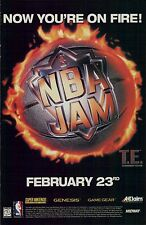 1994 NBA JAM T.E. basketball (Nintendo SNES & Sega)  video game teaser print ad