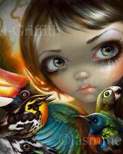 Jasmine Becket-Griffith art print bird birds fairy fairytale SIGNED Birdsong 2