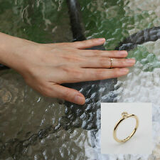 Celebrity One Dot Cubic Above the Knuckle Ring/Top of Finger Midi Ring Gold o
