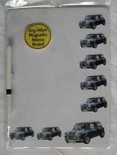 CLASSIC BLUE MINI CAR DRY WIPE MAGNETIC FRIDGE MEMO BOARD WITH PEN.NEW
