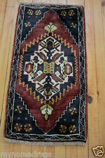 Sweet Antique 1939s Tent- Woven 1'3''x2'8'' Natural Dyes Wool Pile Tribal Rug