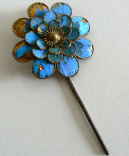 Qing Dynasty Kingfisher feather Hair Pin Antique VINTAGE Chinese 19th China