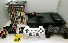 Sony PS2 Fat Console Bundle 2 Controllers + 11 Games Remote Eye Toy SCPH-39001