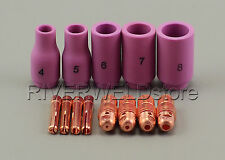 TIG KIT Alumina Cup-Collet Body Accessory For TIG Welding Torch WP9 20 25,13PK