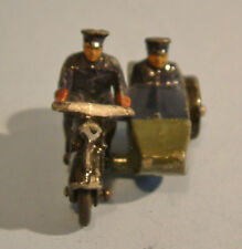 DINKY Meccano 1950 POLICE MOTORCYCLE with SIDECAR #42b Blue/Green Blue Figures
