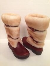 NWOB Authentic UGG AUSTRALIA LILYAN MAHOGANY LEATHER WATERPROOF BOOTS (SIZE 5)