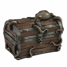 Octopus cracked treasure chest trinket box home decor bronze finish Figure
