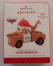 Hallmark 2013 Disney Pixar Mater Peekbuster Motion Activated Christmas Ornament