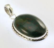 BLOODSTONE PENDANT 925 STERLING SILVER ARTISAN JEWELRY COLLECTION Y135B