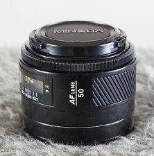 Minolta Maxxum 50mm F1.7 AF Lens. Nr Mint Sony Alpha A Mount  Tested/Guaranteed!