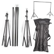3-Lever Foldable Aluminum Alloy Simple Photography Backdrop Stand Support Black